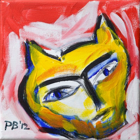 John the homesick cat - A painting by Paul Breddels