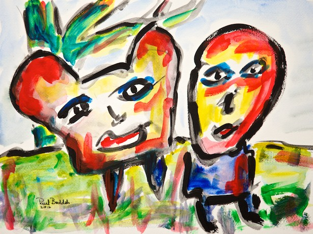 Just being silly - A painting by Paul Breddels